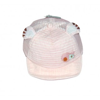 Gorra rosada con rayas meses