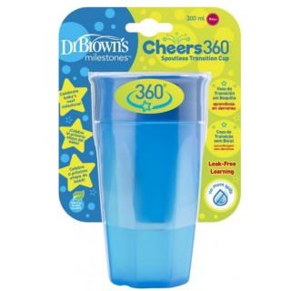 Vaso entrenador 360 azul 300 ml