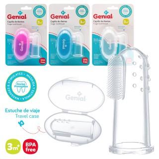 Cepillo dental tipo dedal marca Genial