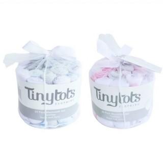 Set de 24 pañitos para niña Tiny Tots