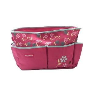 Pañalera rosada de flores