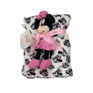 Cobija con peluche de Minnie Mouse