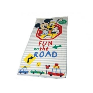 Paño para niños celeste Mickey Mouse
