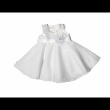 Vestido de bautizo cuello plateado