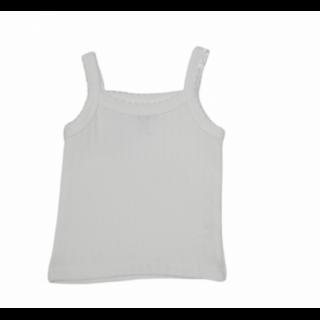 Camiseta interior para bebé blanca niña