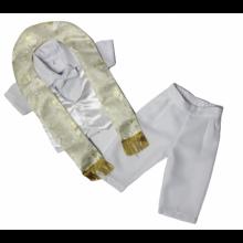 Traje para bautizo de pantalón con estola