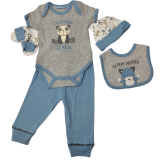 Set de 6 piezas de ropa para bebé Zorrito