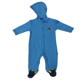 Pijama para bebé dinosaurio celeste