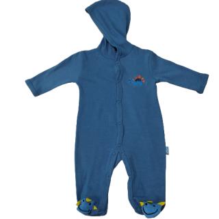 Pijama para bebé dinosaurio azul