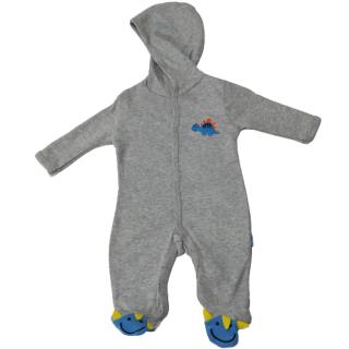 Pijama para bebé dinosaurio Gris