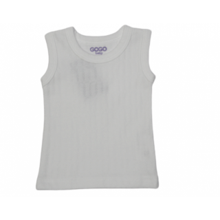 Camiseta interior para bebé blanca niño