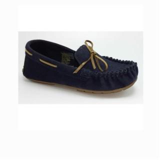 Zapato mocasín azul oscuro