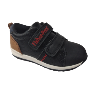 Zapato niño Fisher Price negro doble velcro