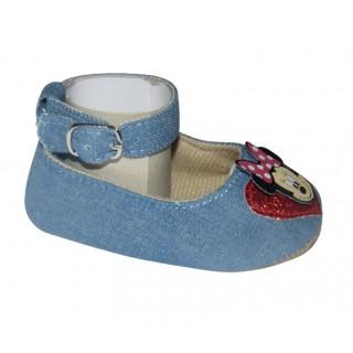 Sandalias jeans claro Minnie - corazón