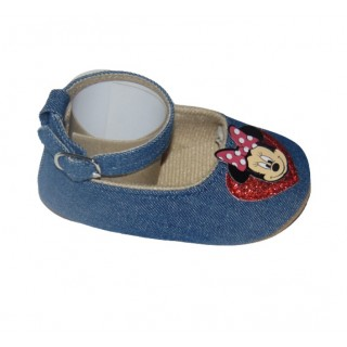 Sandalias jeans oscuro Minnie - corazón
