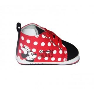 Tenis roja - negro puntos Minnie dreaming