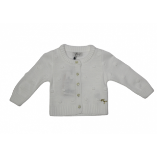 Sweater tejida blanca años