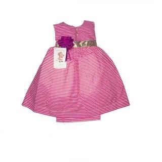 Vestido de rayas blanco/rosado años