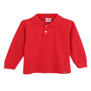 Camisa polo manga larga roja Brandili