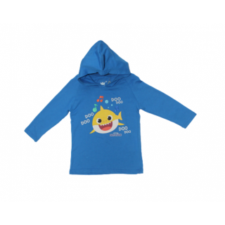 Abrigo Baby Shark  azul marino
