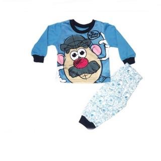 Pijama  celeste Señor Cara de Papa meses