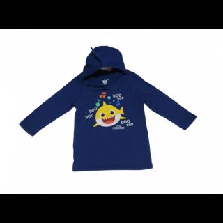 Abrigo Baby Shark azul oscuro