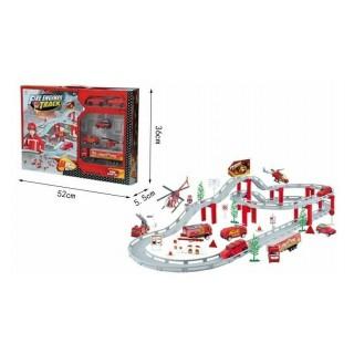 Set de vehículos bomberos