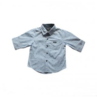 Camisa celeste estampada